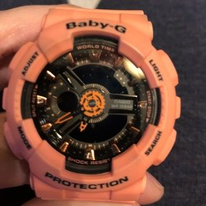 Baby gshock in coral color!!!!